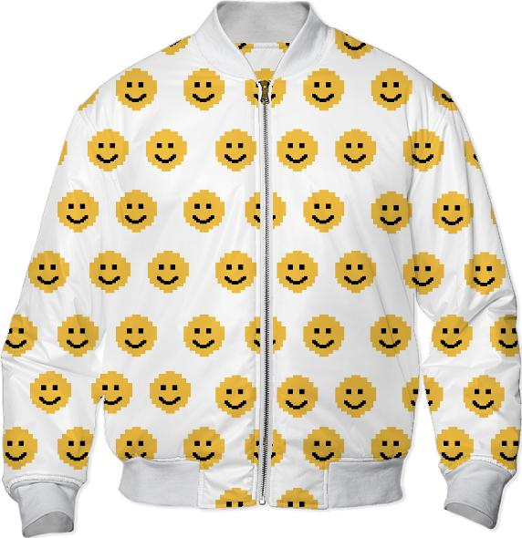 Put on a Happy Face Bomber Jacket