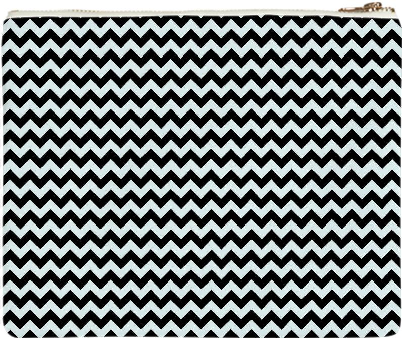 black and white chevron style
