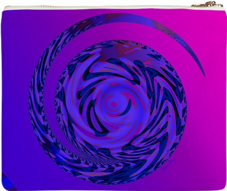 Rose Indigo Spiral Outward into the Cosmos