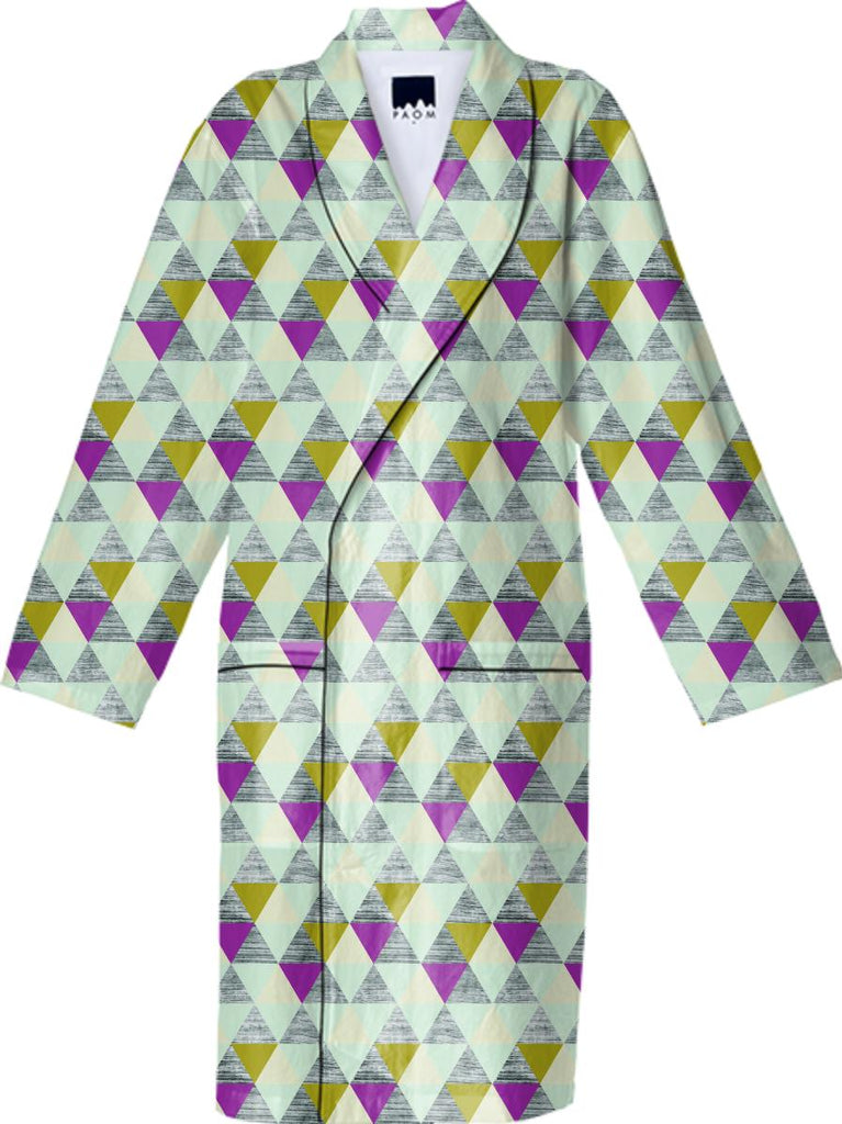 Bark Bark Triangle Cotton Robe