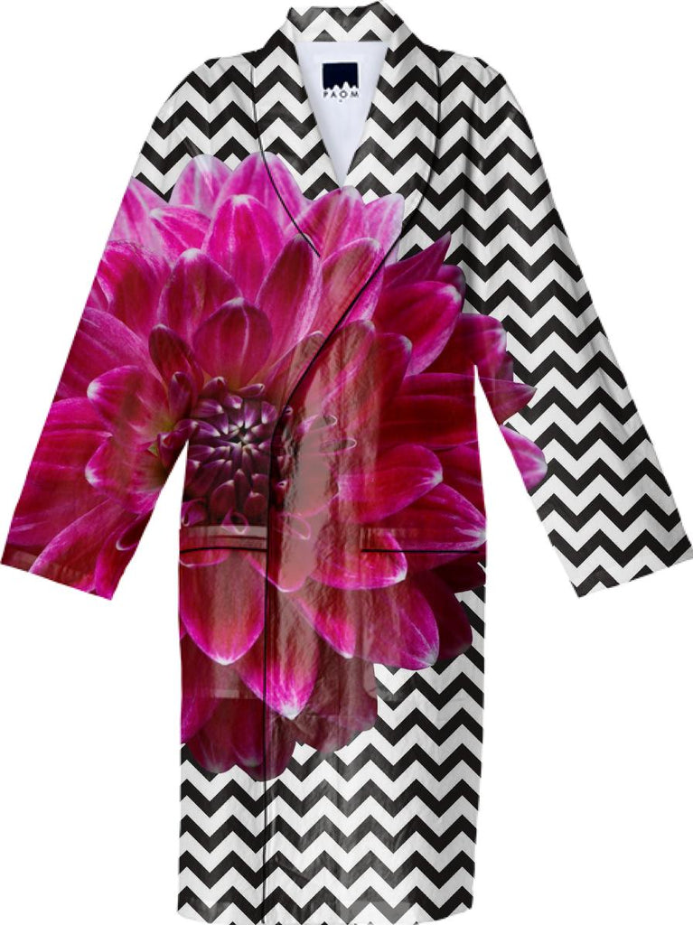 Dahlia and Chevron Robe