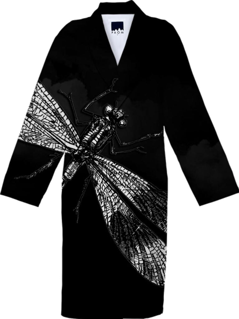 Dragonfly II Cotton Robe 2
