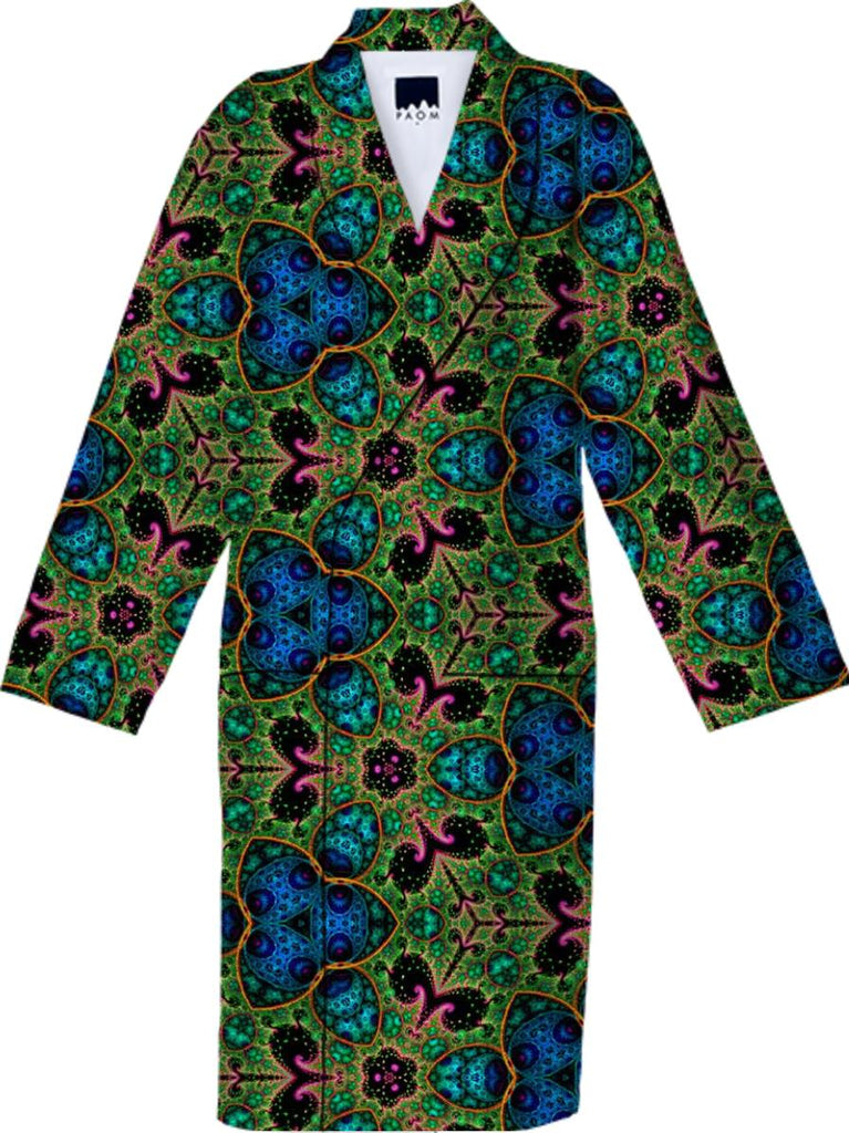 Fractile 45 Green N Blue Robe