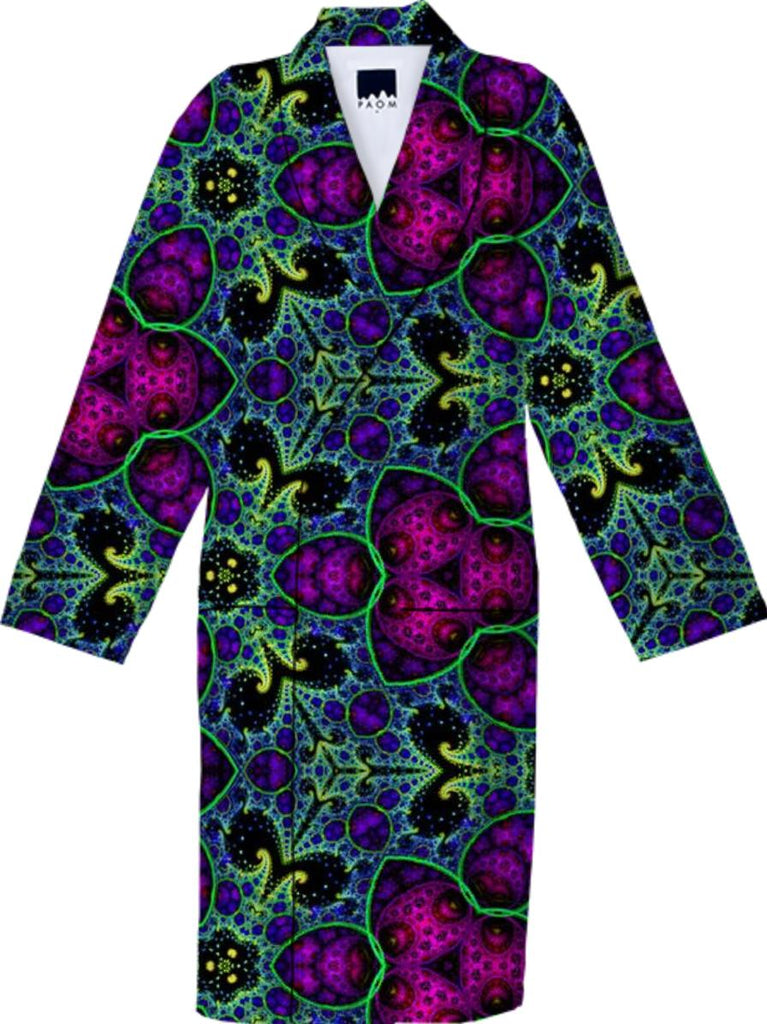 Fractile 45 Purple Green N Blue Robe