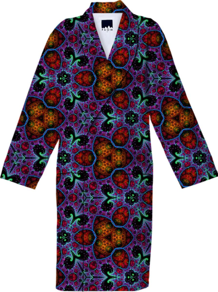 Fractile 45 Purple Orange Robe