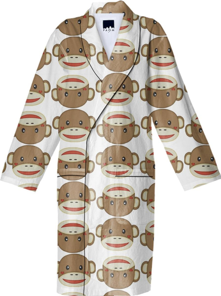 Funny Sock Monkey Robe
