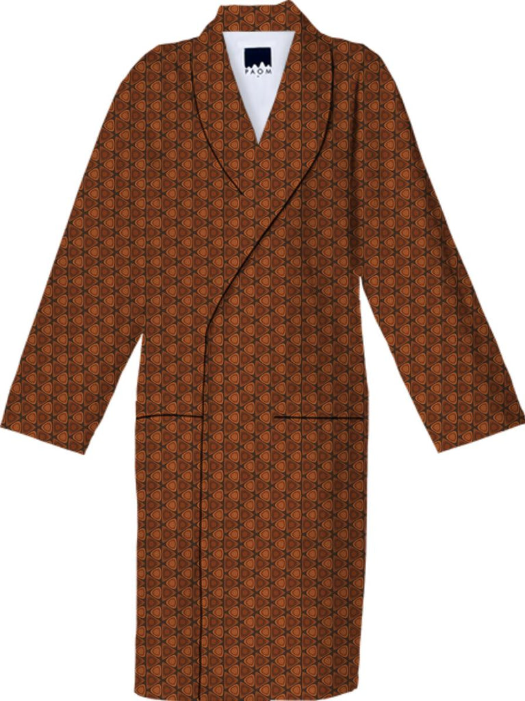 Hardwood Ovals in Triangles Retro Pattern Robe