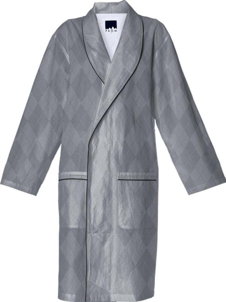 Medium Gray Argyle Robe