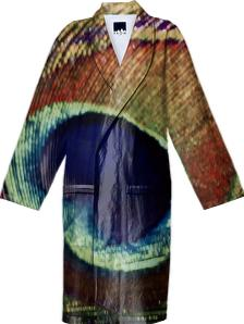 Peacock bathrobe