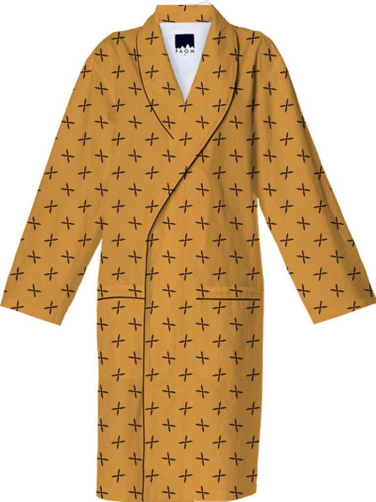 Yellow Pattern Cotton Robe