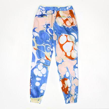 PAOM, Print All Over Me, digital print, design, fashion, style, collaboration, degen, Cotton Pants, Cotton-Pants, CottonPants, BLUE, MARBLE, autumn winter spring summer, unisex, Cotton, Bottoms