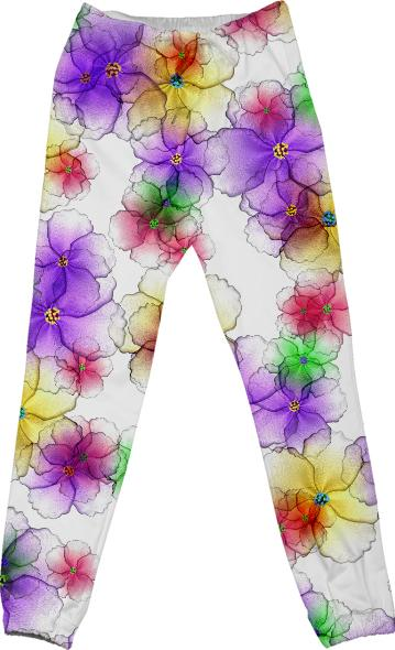 CANDY FLOWERS COTTON PANTS