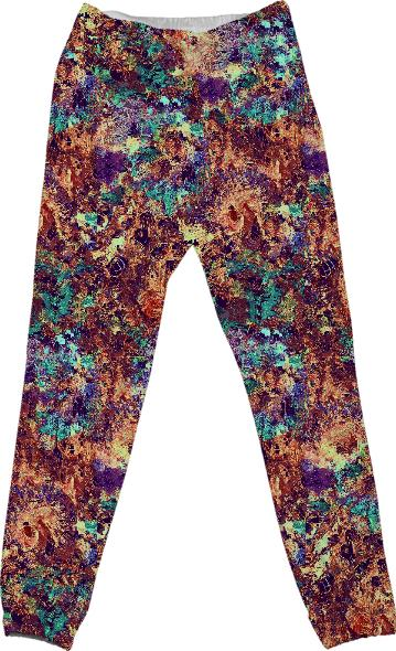 DigiFlora Alternate Colorway Cotton Pants
