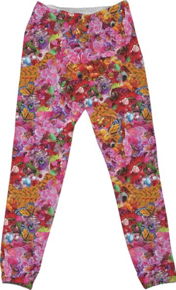 PAOM, Print All Over Me, digital print, design, fashion, style, collaboration, zoe-schlacter, zoe schlacter, Cotton Pants, Cotton-Pants, CottonPants, Floral, autumn winter spring summer, unisex, Cotton, Bottoms