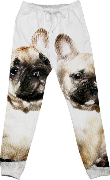 French bulldogs cotton pants