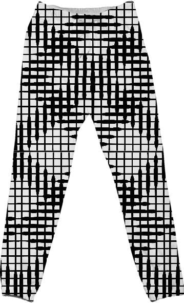 White and Black Abstract Diamond pattern