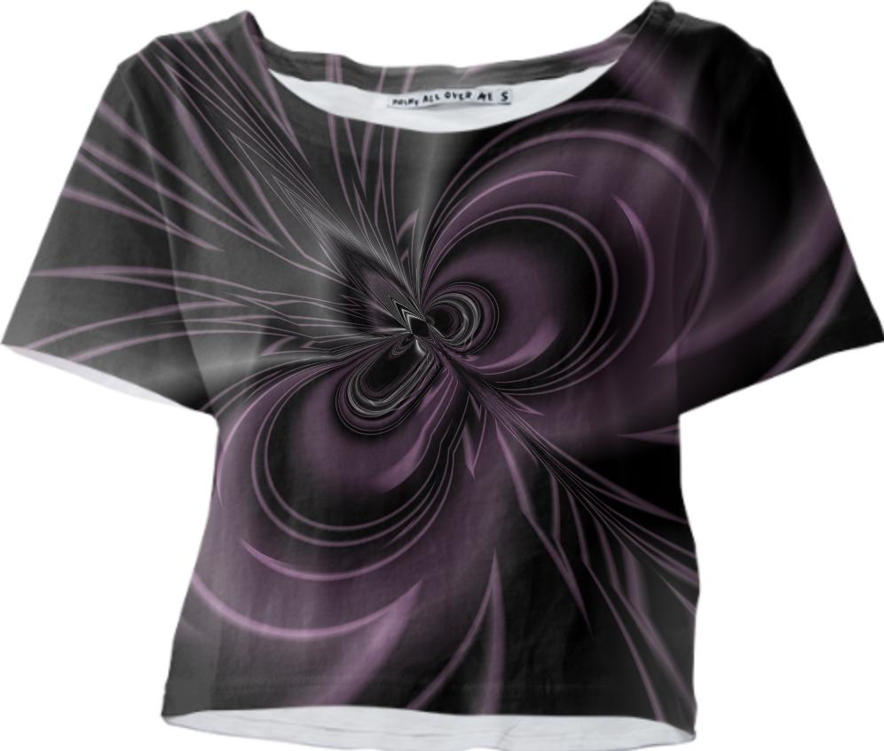Abstract 382 in Plum and Gray Crop Tee