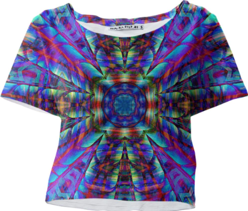 Celestial Center Crop Tee by Dovetail Designs
