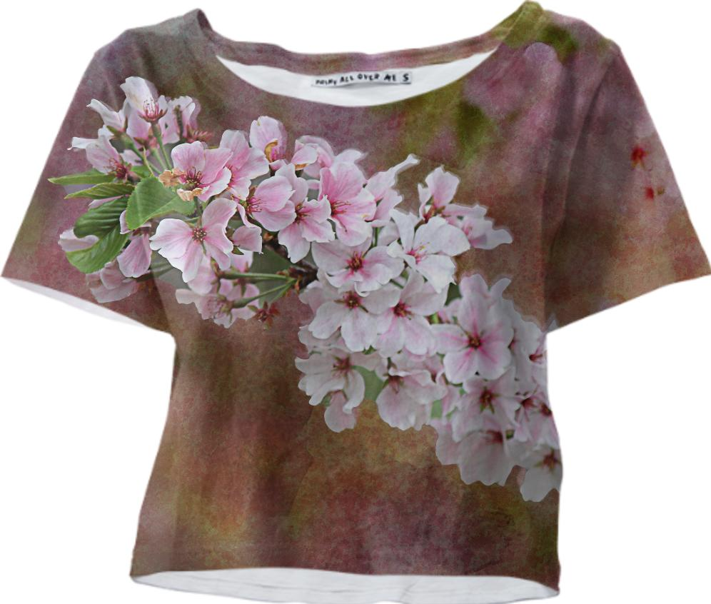 Cherry Blossom Branch Crop Top