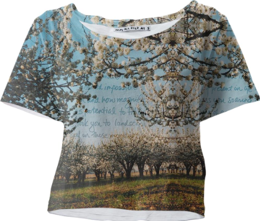 Cherry Blossoms Crop Tee