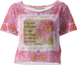 Flower Mandala crop shirt