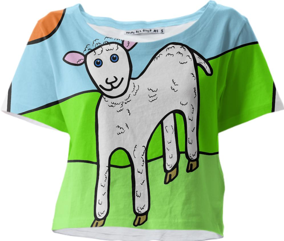 Little Lamb Cropped Tee