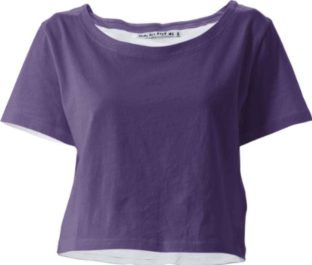 Solid Plum Crop Tee
