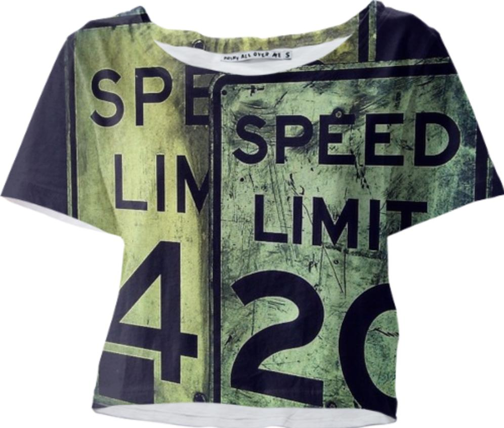 Speed Limit Crop Tee