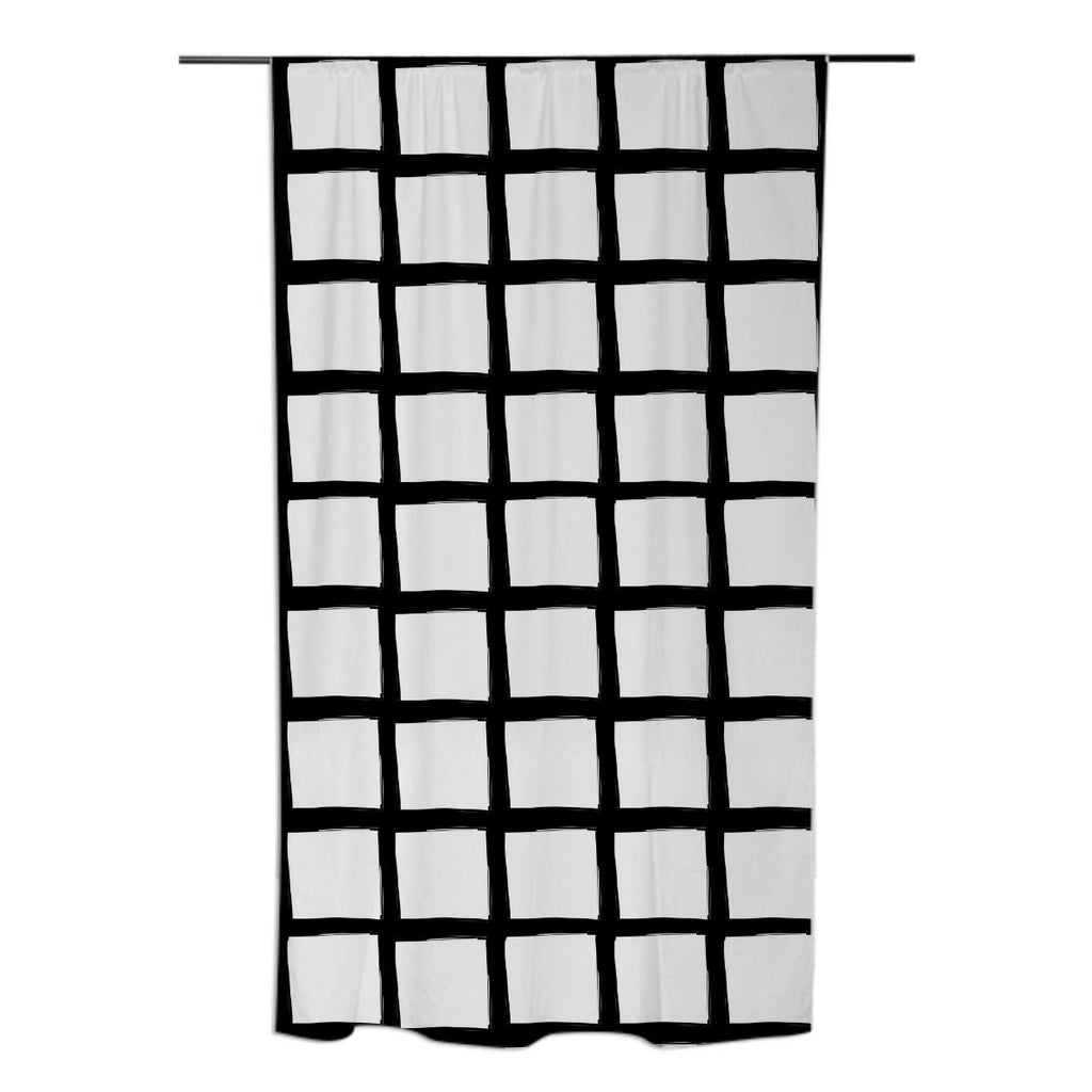 Black and White Grid Curtain