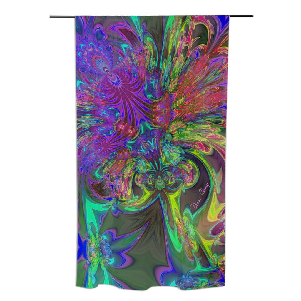 Glowing Burst of Color Abstract Teal Violet Deva