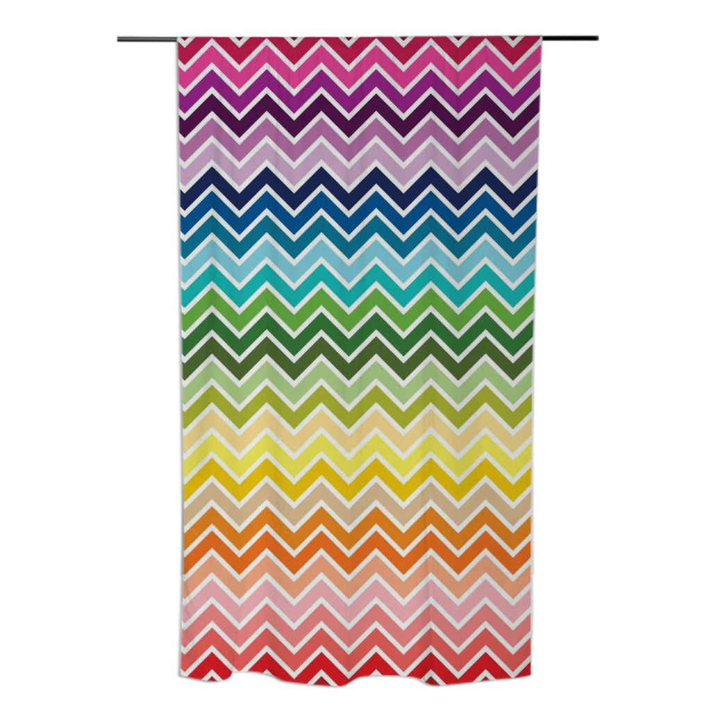 Rainbow Chevron Curtains