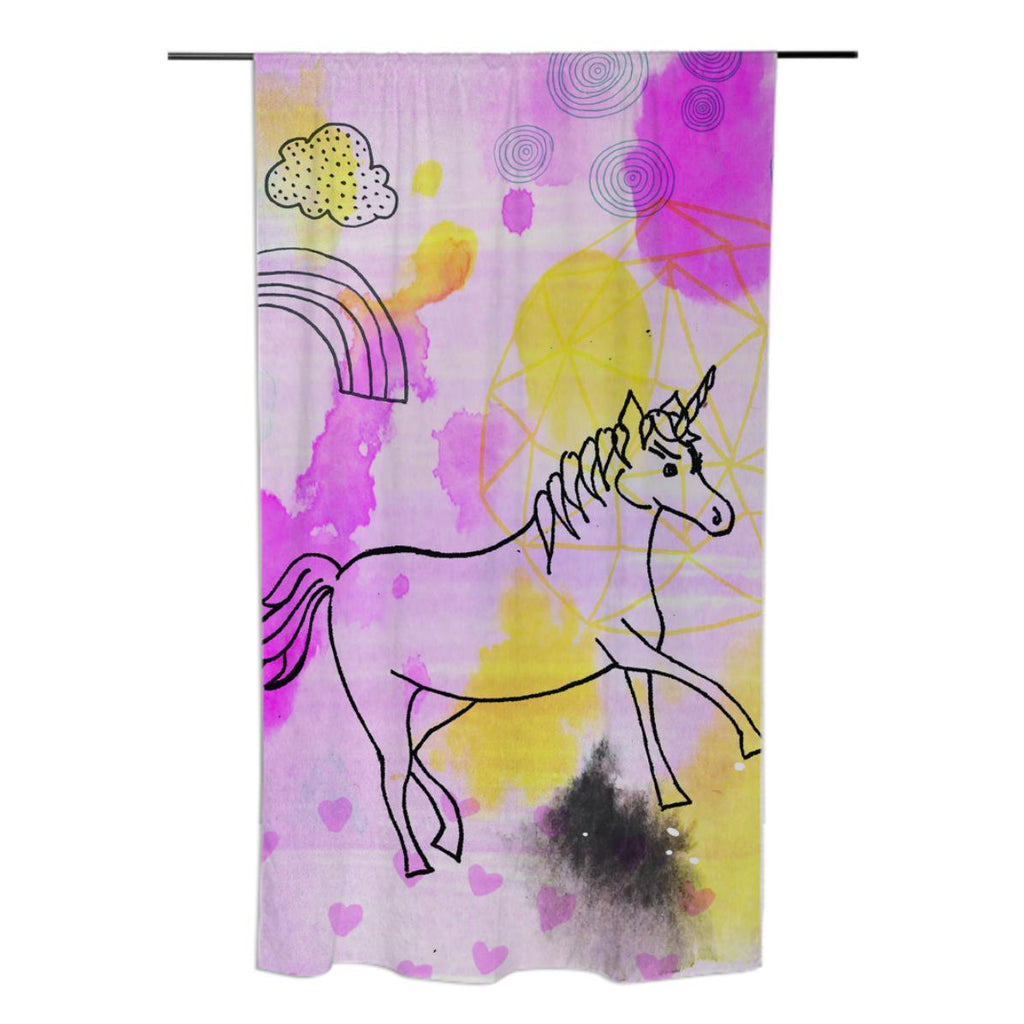 Unicorn Sprinkles Curtain