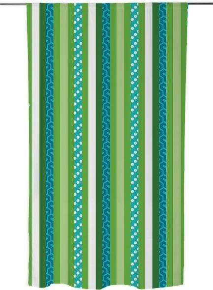 Blue and Green Abstract Stripes Vertical