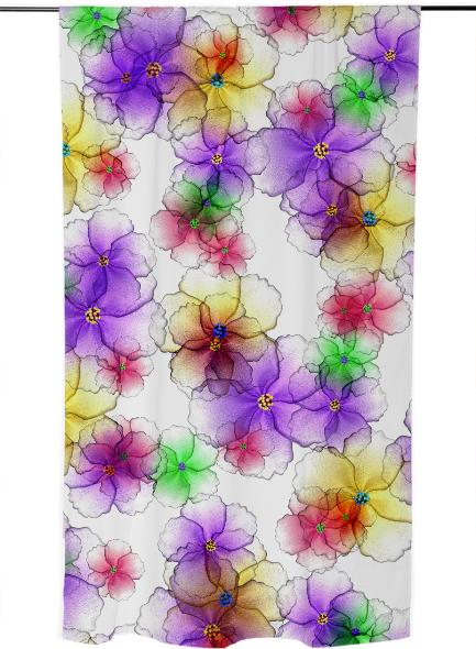 CANDY FLOWERS CURTAIN