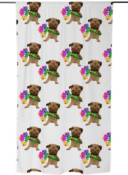 Easter Pugs 2014 Curtains
