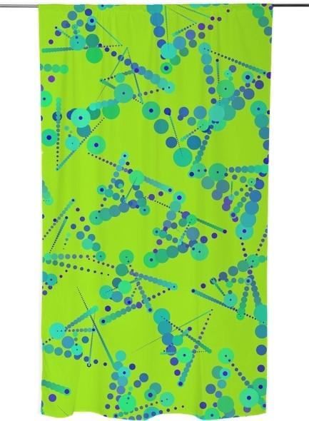Neon Dotty Abstract Triangles