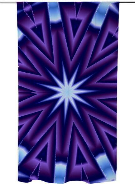 Purple and Blue Kaleidoscope Abstract