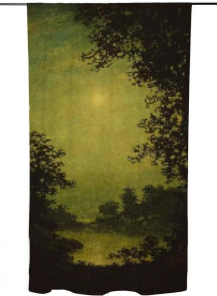 sunset tinted verdana painting curtain