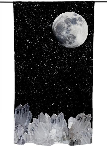 White Moon Curtain