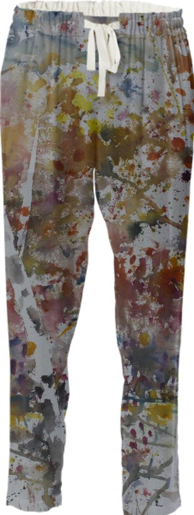 Birch Trees Drawstring Pants