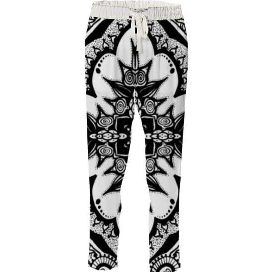 Black and white hippy pants