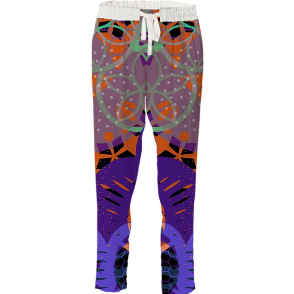 CHEERFUL FLORAL ORNAMENTIC Drawstring Pant 1