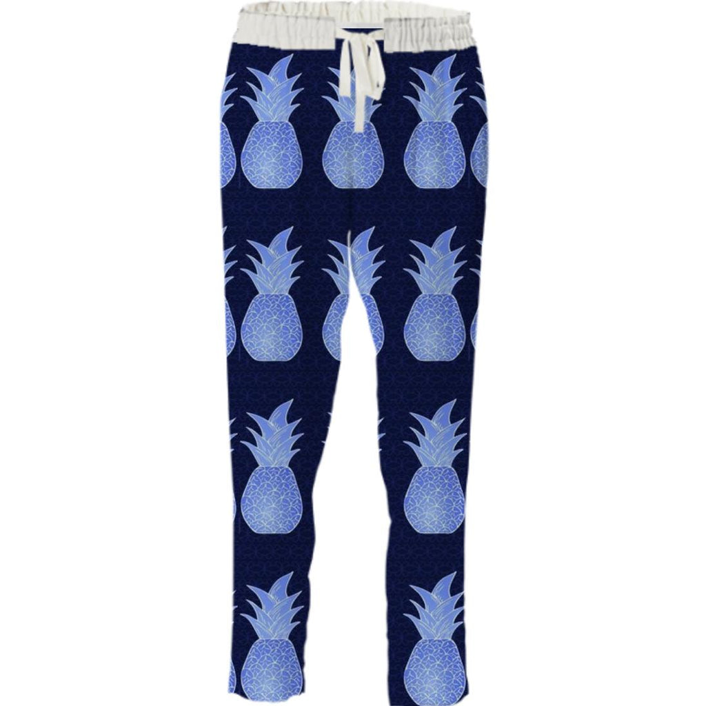 Dark Blue Pineapple Pant