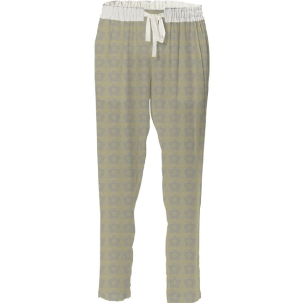 Green And Grey Flower Pant