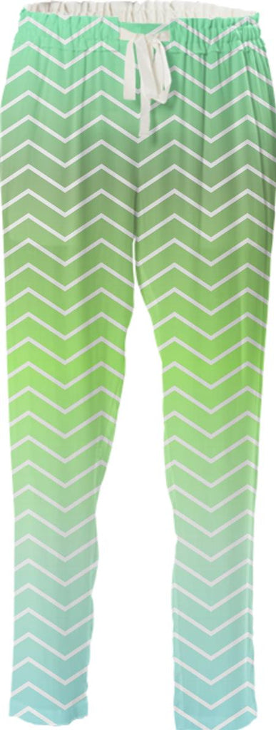 Green zigzag pattern
