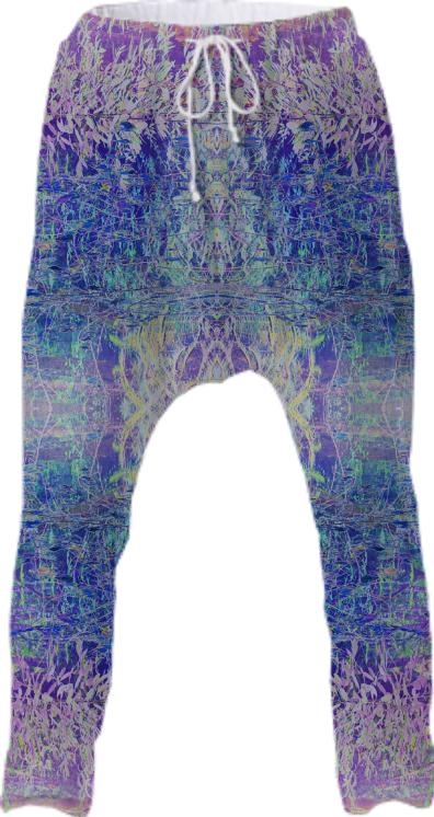 psychedelic forest drop pants