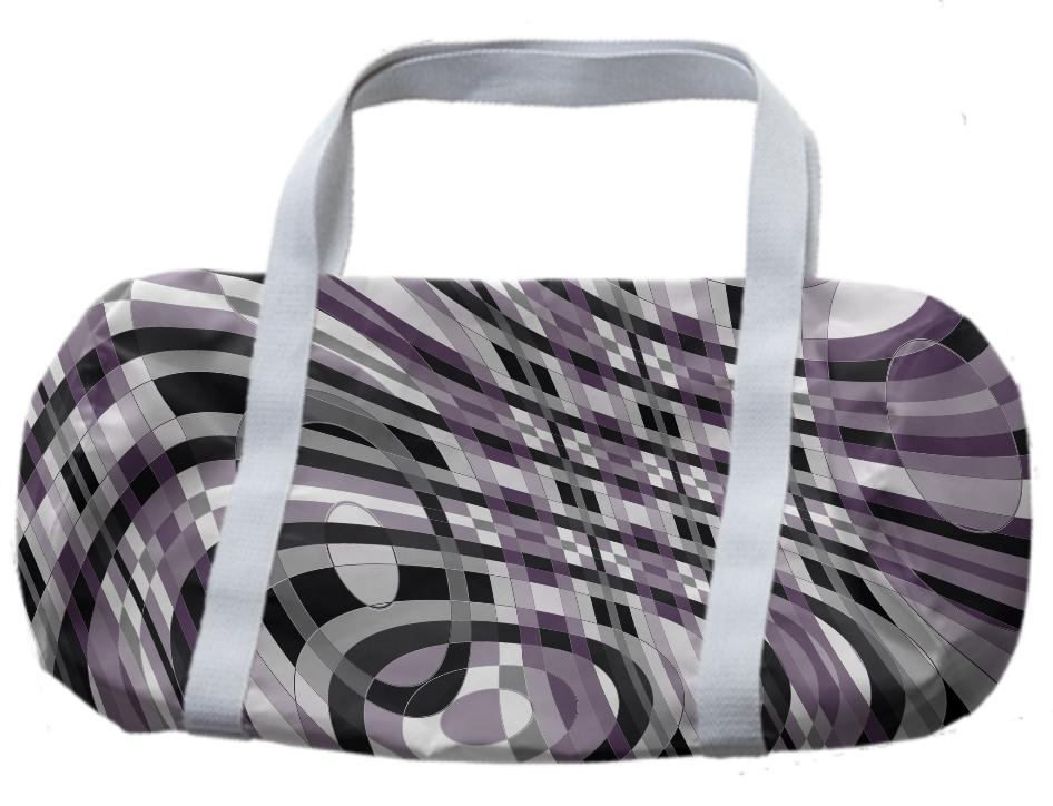 Abstract 360 Plum and Gray Duffle Bag