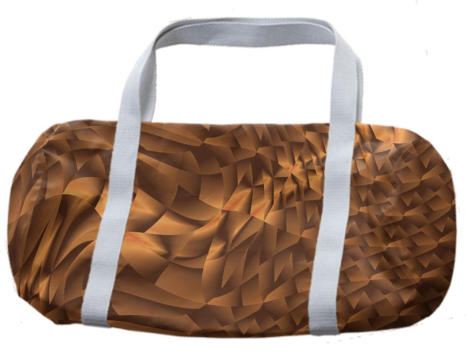 Abstract 365 Bronze Tones Duffle Bag