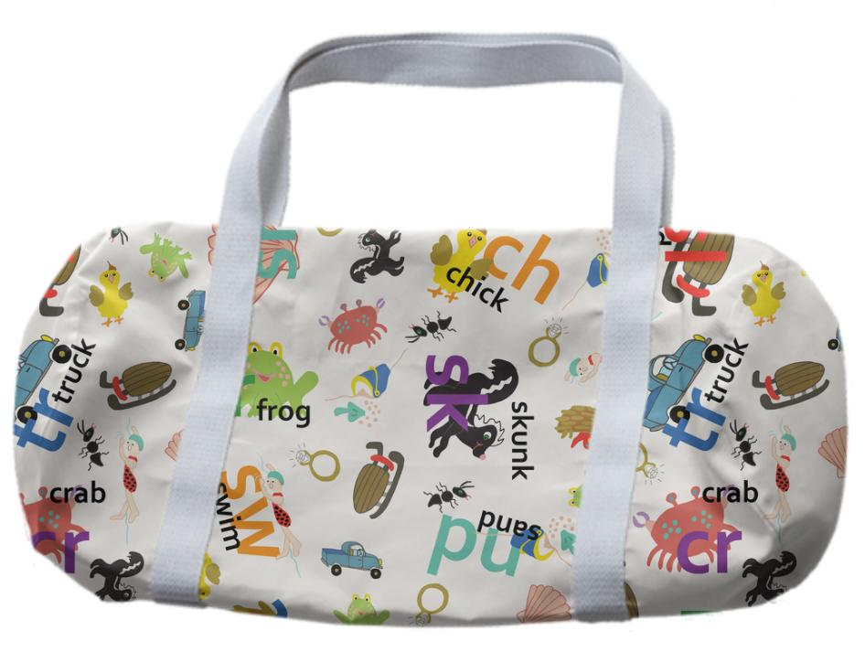 Alphabet consonant blends duffle bag