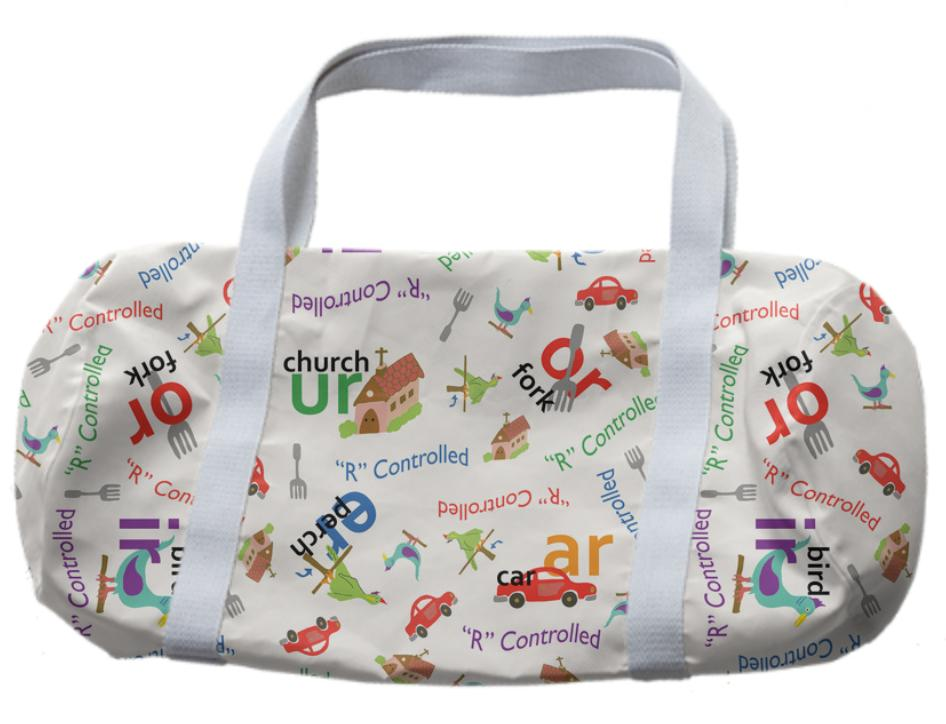 Alphabet R Controlled vowels inspired duffle bag
